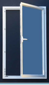 Hinged Secondary Glazing Unit - Open